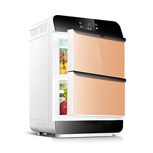 GUGULU Mini-Kühlschrank, elektrischer Kühler und Wärmer (28 Liter): Tragbares thermoelektrisches AC/DC-System (Zwei Türen) - Straße System