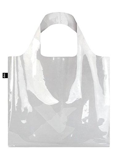 LOQI TRANSPARENT Einkaufs- Reise-Henkeltasche, Transparent (Pocket Tote Zip)