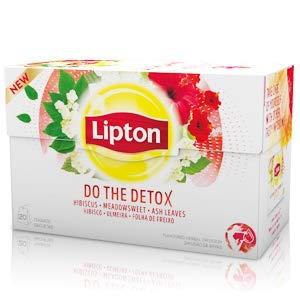 LIPTON - DO THE DETOX (hibiscus, spirée, feuilles de frêne) - 20 sachets pyramide individuels x 6 paquets = 120 sachets