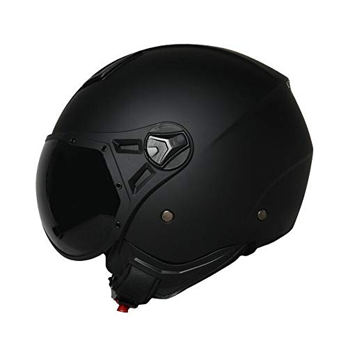YAUUYA Jethelm Motorrad Retro Harley Jethelm ECE-Zertifizierung Kollisionstyp Chopper Cruiser Roller mit eingebauter Schutzbrille Erwachsene Männer und Frauen, L/XL/XXL -