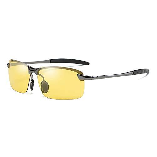 GXM-SG Dual-Use-Sonnenbrillen für Tag und Nacht, intelligente lichtempfindliche Sonnenbrillen, hochauflösende Nachtfahrbrillen für Herren und UV400-Schutzbrillen mit Blendschutz,Ablackframe