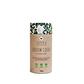 Super U Shroom Coffee, 60 Servings – Organic Mushroom Coffee with Chaga, Cordyceps and Lion's Mane Mushroom Powder