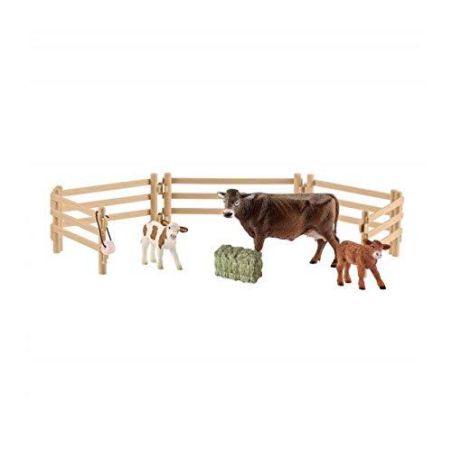Schleich 42392 - Trio di mucche con recinto