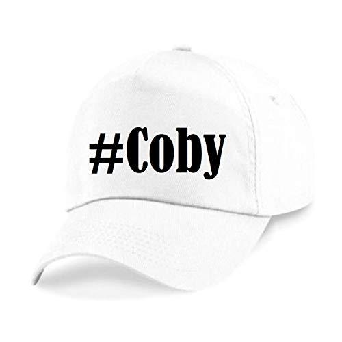 Reifen-Markt Base Cap Hashtag #Coby Größe Uni Farbe Weiss Druck Schwarz Coby 19
