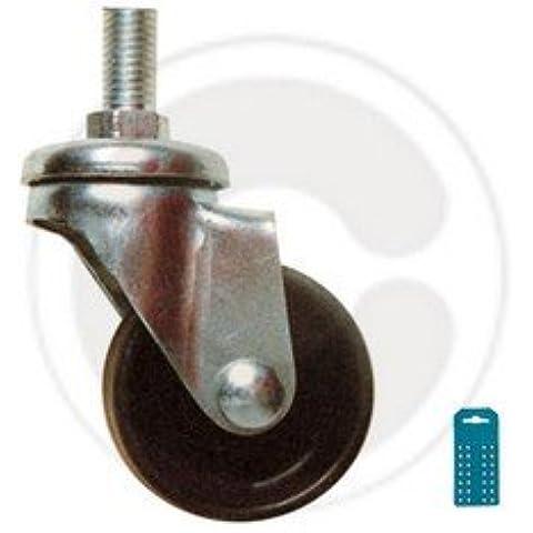 BL RUOTE NYLON C/PERNO MM.50 (PZ.2) Confezione da 4PZ
