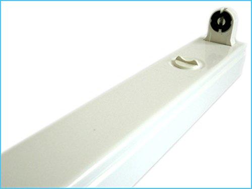 Plafoniera Tubo Led : Porta lampada plafoniera tubo led t da cm singolo