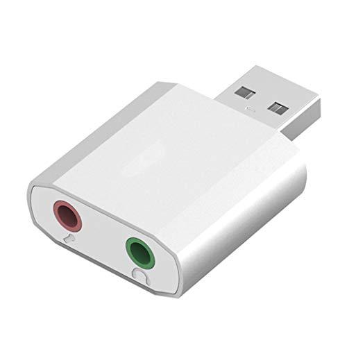 XZANTE Externe Stereo Audio Sound Karte USB Zu 3,5 Mm Klinke Aux Headset Adapter Ersatz Für Ps4 Lautsprecher Pc Mic Laptop Computer - Externe Für Computer Sound-karte