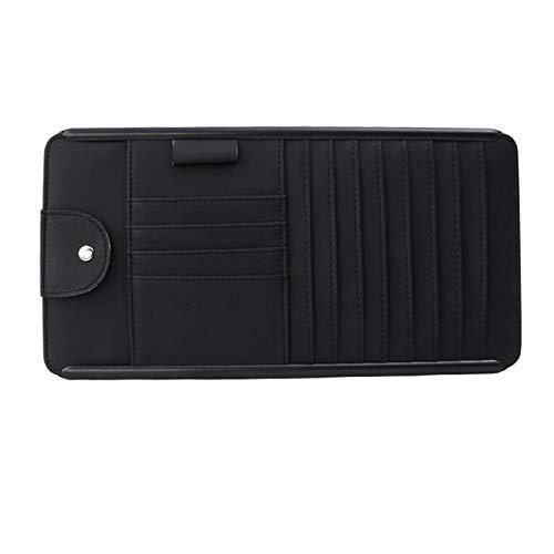 HWZ Multifunction Automobile Car Sun Visor CD Holder Sunglasses Storage Bag Case Hanging Card Holder Universa