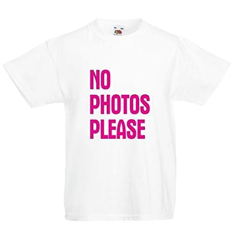 Maman Papa Fille Halloween - T-shirt pour enfants No Photos Please (12-13