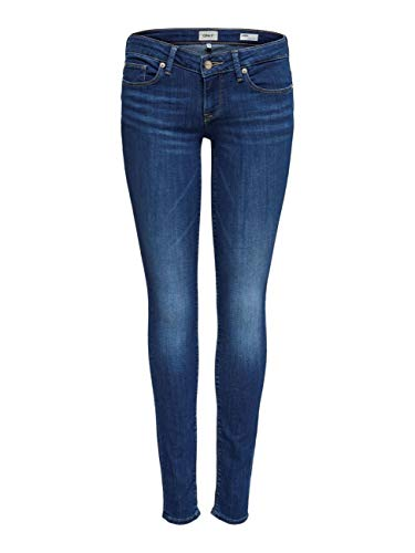 ONLY NOS Damen Slim Jeans onlCORAL SL DNM BB CRE17527 NOOS, Blau (Medium Blue Denim), W28/L30