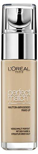 L'Oréal Paris Perfect Match Foundation, flüssiges Make-Up, deckend und feuchtigkeitsspendend für einen natürlichen Teint, 2N vanilla (1 x 30 ml)