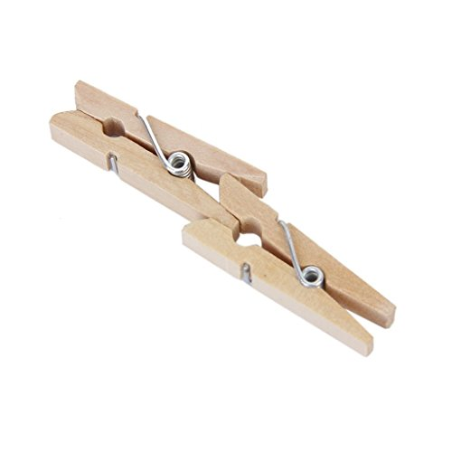 Naisidier Doppelpacktasche 50 Pcs Holz Klammern Mini Holz Foto Papier Peg Wäscheklammer Kleidung Pin Clip Wooden Pegs for Clothes Paper Notes 3cm