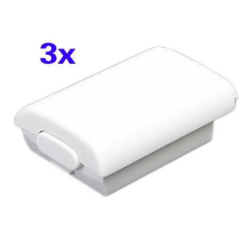 SODIAL (R) 3X-Akku Rueckseite Fall Shell Xbox 360 Wireless Controller weiss