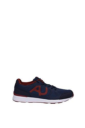 Sneakers Armani Jeans Uomo Tessuto Blu Mar Caspio e Rosso Mattone Z6511185B Blu 41EU