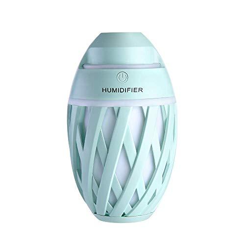 ZX Humidificador Ultrasónico USB para Bebe Dormitorio Oficina Ninos Ambientador Vapor Frío con Luz Nocturna Se Apaga Automáticamente 320Ml Purificar El Aire,Green
