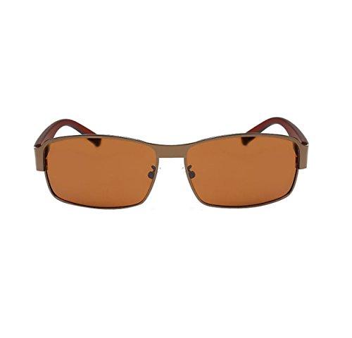 HAOYUXIANG Herren- Klassisch Sportliches Fahren Polarisierten Sonnenbrillen,DrawingBronzeBoxTea