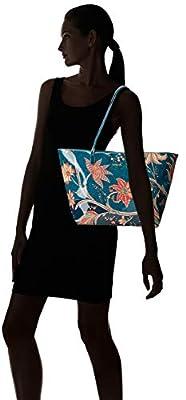 Desigual - Bols_discovery_capri Zipper, Shoppers y bolsos de hombro Mujer, Azul (Petrucho), 13x28x30 cm (B x H T) de Desigual