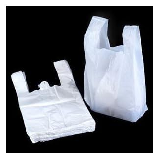 "UNIPACKLTD® White Vest Style Plastic Carrier Bags - 11"" x 17"" x 21"" - (1 box = 100 bags) 7"
