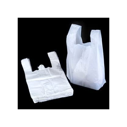 "UNIPACKLTD® White Vest Style Plastic Carrier Bags - 11"" x 17"" x 21"" - (1 box = 100 bags) 1"