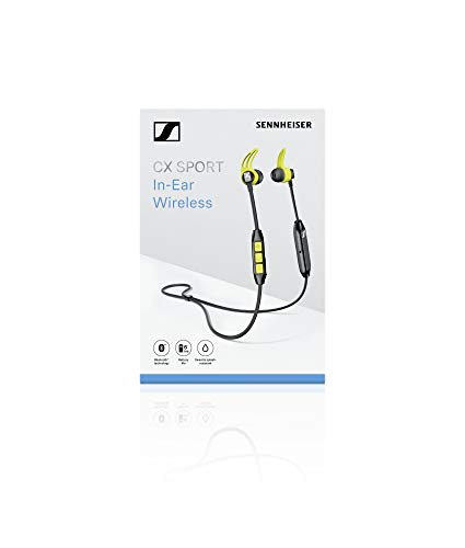 Sennheiser CX Sport Bluetooth In-Ear Wireless Sports Headphon, black/yellow - 6