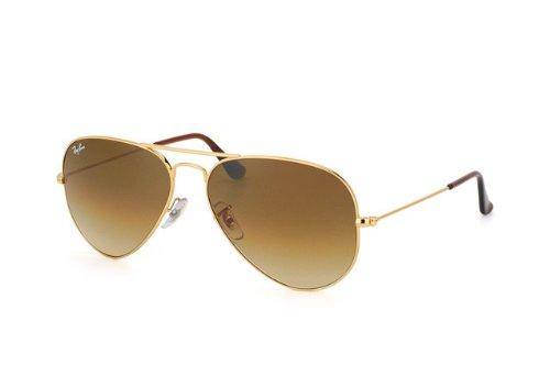 Preisvergleich Produktbild Neue Authentic RAY BAN Ray-Ban Aviator Sonnenbrillen RB 3025 001/51 Gold 58mm