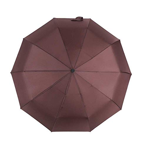BBQBQ Paraguas Plegables Paraguas Parasol automático plástico Negro Hueso 10 Negro plástico marrón