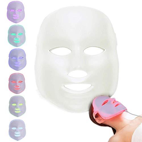 BeautyIncz 7 Farben led Gesichtsmaske Gesichtsmaske Maschine Photon Therapie licht hautverjüngung akne gesichtshautpflege schönheit Maske heimgebrauch Usb Flex Neck