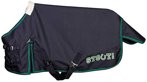 Harry\'s Horse Regendecke Stout! Green Nylon-Futter Minishetty+Shetty Logo-Print (75 cm)