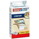 tesa 5 x Fliegengitter Insect Stop für Dachfenster 1,20x1,40m weiß