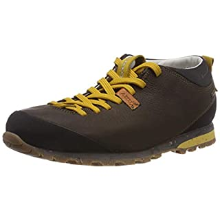 AKU Unisex Adults' Bellamont II FG GTX Low Rise Hiking Boots, Brown (Dk.Brown/Yellow 305), 11 UK