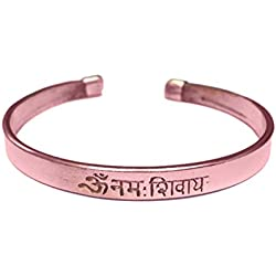 Discount4Product Thick Pure Copper Bracelet Kada With Om Namah Shivay