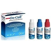 Preisvergleich für Swiss Point Of Care GK Dual Kontrol Lösung (3 Flaschen) | zum Eichen für GK Dual Messgeräte von On Call und Swiss...