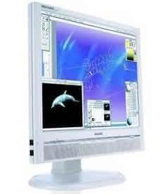 Philips 190P6EG 48,3 cm (19 Zoll) TFT Monitor (DVI, 8ms Reaktionszeit) weiß/beige