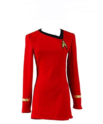 Kostüm Star Trek Erwachsene Uniform Für - Star Trek Uniform Kleid TOS Kostüm Damen Rot S