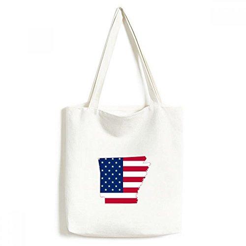 DIYthinker Die Vereinigten Staaten von Amerika USA Arkansas Karte Amerikanische Flagge Flagge Form Moderne Entwurf Tasche Umwelt Toten Große Geschenk Kapazität Einkaufstaschen -