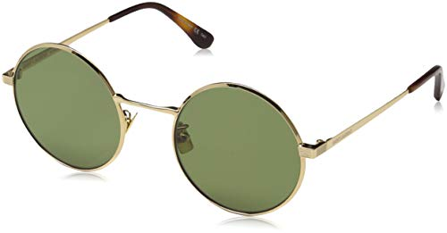 Saint laurent sl 136 zero 002, occhiali da sole unisex-adulto, oro (gold/green), 52