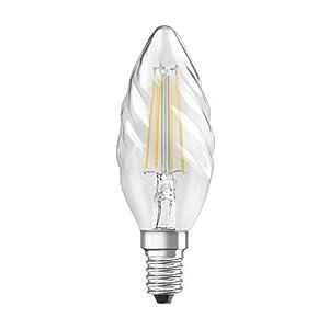 OSRAM LED Retrofit CLASSIC BW Pacco da 10 x Lampadina LED, Attacco: E14, Bianca Calda, 2700 K, 1.50 W, Equivalenti a 15 W, LED Retrofit CLASSIC B, Chiaro, Taglia Unica
