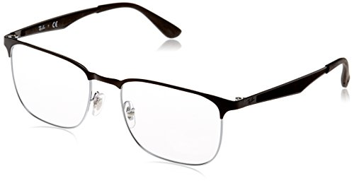 Ray-Ban Unisex-Erwachsene Brillengestell 0rx 6363 2861 54, Silber (Silver Top On Black)