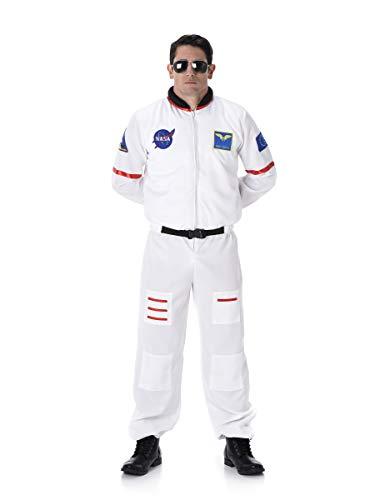 KULTFAKTOR GmbH Astronaut Kostüm Raumfahrer Weiss-bunt ()