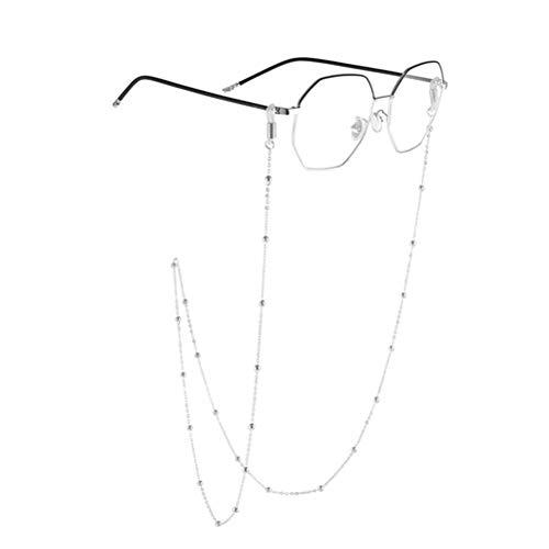Neborn Fashion Chic Damen Gold Silber Brillen Ketten Sonnenbrille Lesen Perlen Gläser Kette Eyewears Schnur Halter neck strap Seil