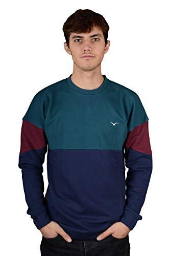 Cleptomanicx Herren Sweatshirt Drop 91, Größe:L, Farben:deep Teal