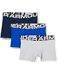 Under Armour Charged Cotton 3in 3 Pack, Boxer Uomo, Royal/Academy/MOD Gray Medium Heather (400), M