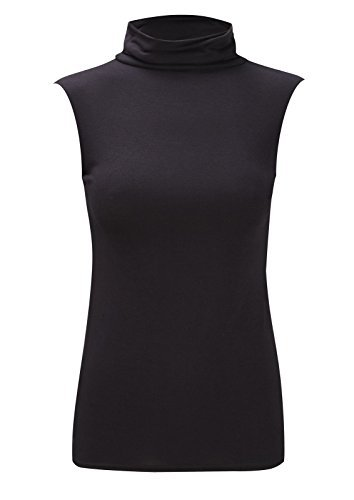 new-womens-sleeveles-polo-neck-top-ladies-turtle-high-neck-bodycon-top-jumper-8-26