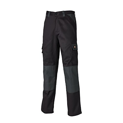 Dickies Mens Everyday Durable Cargo Pocket Work Pants (30T) (Black/Grey) -