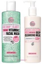(2Pack) Seife & Glory Face Seife & Klarheit-in Daily Detox Vitamin C Facial Wash X 350ml & Seife & Glory Pfirsiche & Clean in wash-off Deep Cleansing Milk x 350ml - Vitamin C Detox