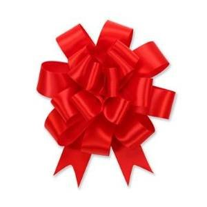 Good Deals Online Red Pull Ribbon florist Bows For Arts amp; Crafts, gift wrapping, decorations, weddings, christmas, flowers - 5 Bows in each pack, 47 Inches long (10 pull bows)