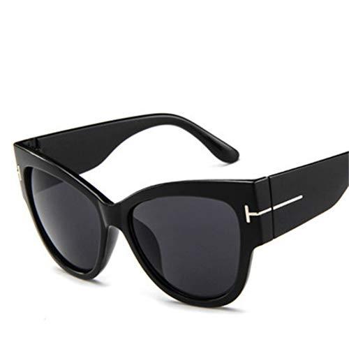 GJYANJING Sonnenbrille Mode Sonnenbrillen Frauen LuxusVintage T Halbe Cat Eye Brillen Eyewear Weibliche Uv400
