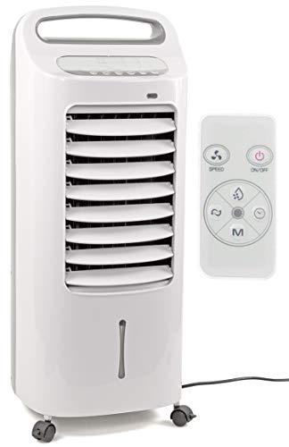 Nick and Ben Mobiles Klima-Gerät 60W 6L sehr leise Air-Cooler 3 in 1 Timer-Funktion Fern-Bedienung LED-Display weiß ohne Schlauch Ventilator Klima-Anlage Kühler Raum-Lüfter Luft-Erfrischer Lüftung