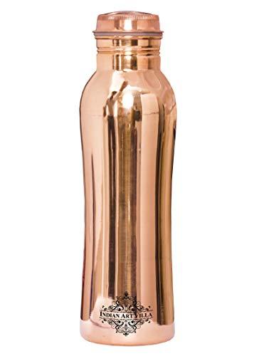 Indian Art Villa Designer Handmade Copper Bottle, Drinkware & Tableware,Good Health Benefits, 650 Ml