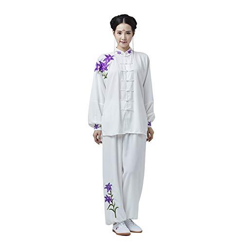 E Bestar Tai Chi Abbigliamento con Seta Cotone per Donna Uomo Unisex Modelli Gong Fu Arti Marziali Tai Chi Abiti da Arti Marziali Completi